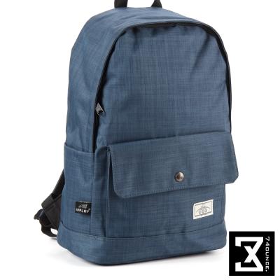 74盎司 簡約設計後背包(14吋)[K-011]藍