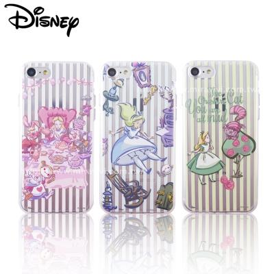 Disney迪士尼iPhone 8/7 Plus(5.5吋)愛麗絲彩繪保護軟套