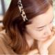 梨花HaNA 韓國琥珀豹紋系列寬一字髮夾