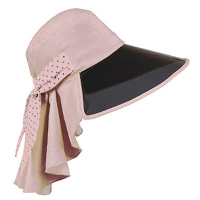 Aimee-Toff-復古鏡面特色抗UV遮陽帽-粉