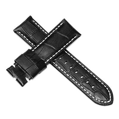 【手表達人】Panerai 沛納海款代用進口錶帶( 24mm )x黑色