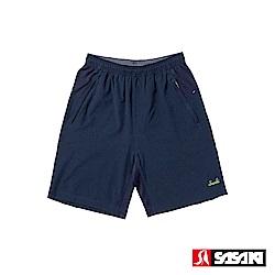 SASAKI 抗紫外線功能四面彈力網球短褲-男-丈青/艷黃