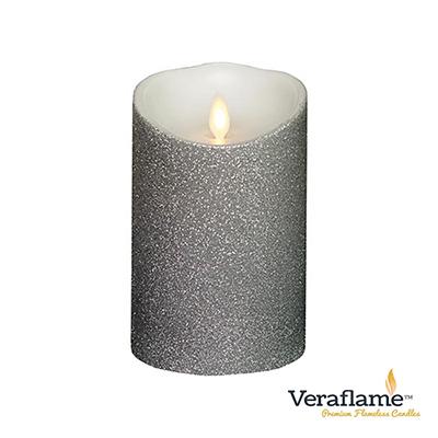 Veraflame 擬真火焰搖擺蠟燭-象牙白銀蔥
