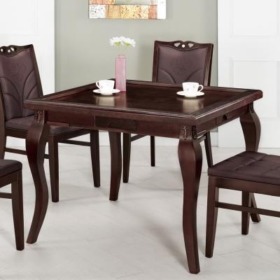 Bernice-艾里斯3.2尺造型麻將桌/餐桌(兩色可選)97x97x76cm