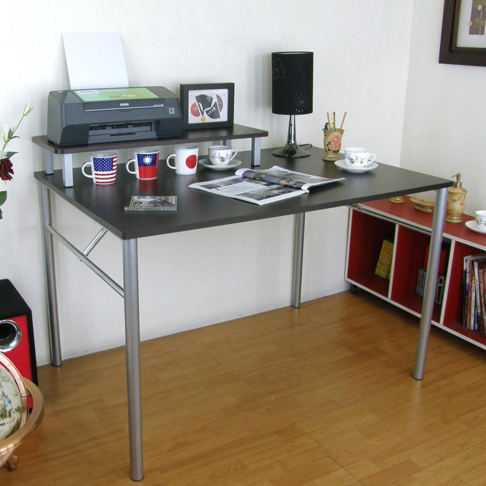 頂堅(桌面80x120cm)書桌(附桌上架80cm/二色)