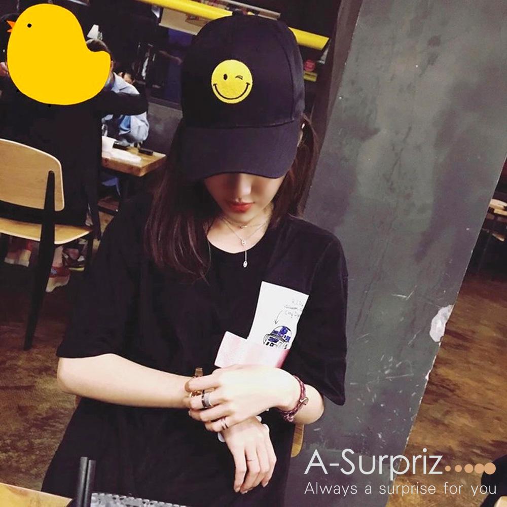 A-Surpriz 微笑眨眼小天使棒球帽(2色選)