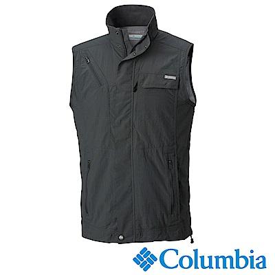 Columbia 哥倫比亞 男款-防曬50快排釣魚背心-深灰 UAE01730AG