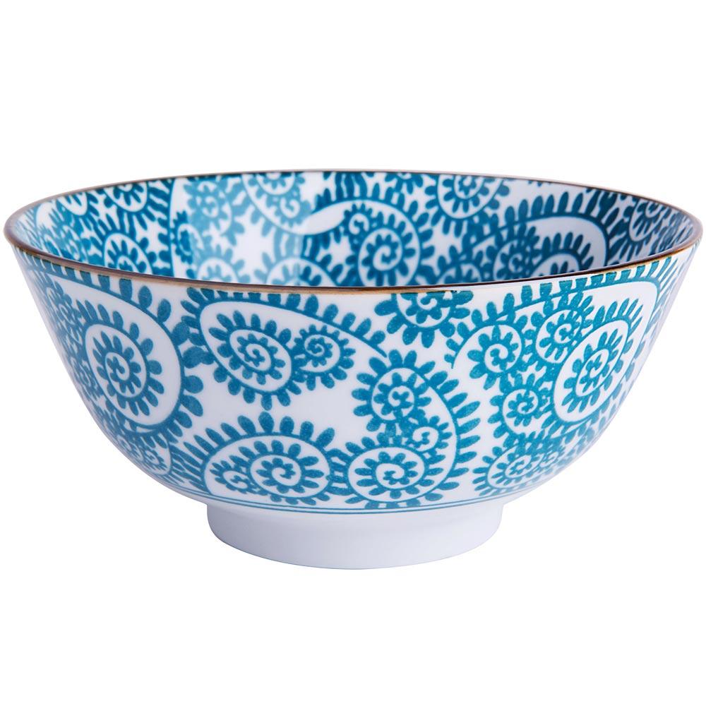 EXCELSA Oriented瓷餐碗(藤蔓藍15.5cm)