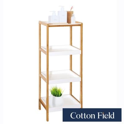 棉花田 里約 簡易組裝竹製四層置物架