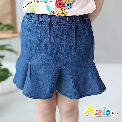 Azio Kids 童裝-短裙 休閒魚尾鬆緊褲裙(藍)