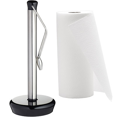 KitchenCraft 夾式廚房衛生紙架(黑)