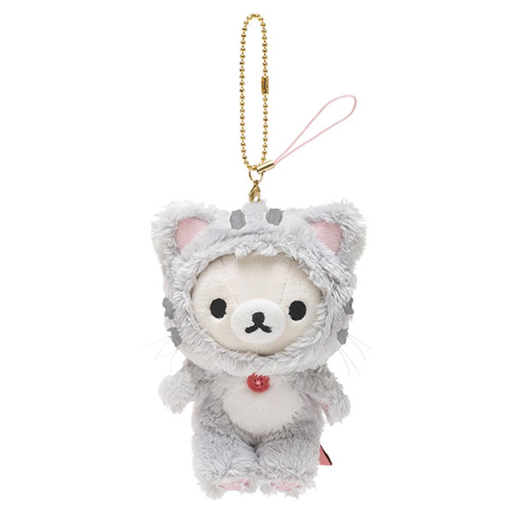 拉拉熊悠閒貓生活系列毛絨公仔吊飾。懶妹