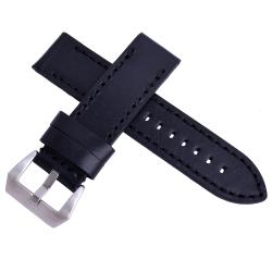 沛納海Panerai 特製加厚代用真皮素面錶帶-黑色