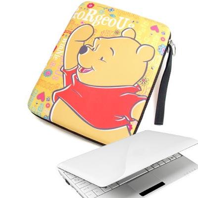 小熊維尼 小筆電時尚防護袋-花園 (10吋及i pad適用)
