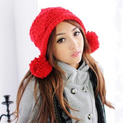 Aimee Toff 可愛百搭樂園球球毛線帽(紅)