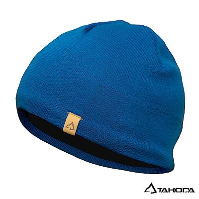 TAKODA 戶外登山運動 針織羊毛混紡彈力毛帽 (藍色)