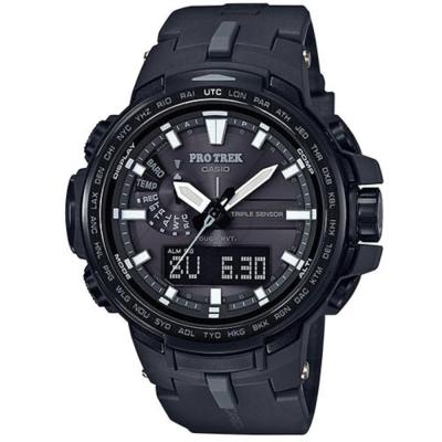 PROTREK酷黑新裝備三大感應低耗量電波錶(PRW-6100Y-1B)黑邊/51.6mm