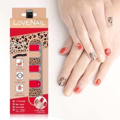 LOVE NAIL-造型系列持久指甲油貼-擁豹愛情