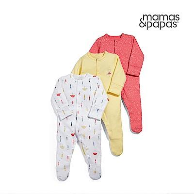 Mamas & Papas 雨滴華爾滋-連身衣3件組