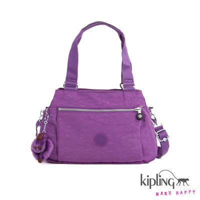 Kipling-手提包-桔梗紫素面