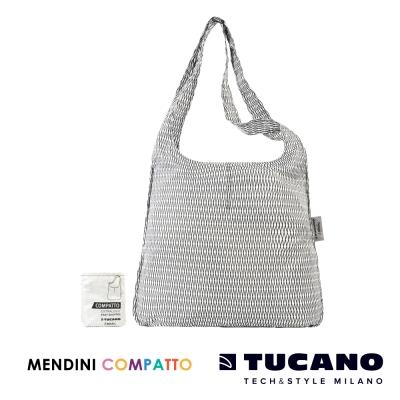 TUCANO X MENDINI 設計師系列超輕量折疊收納輕鬆購物袋-白