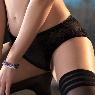 黛安芬-艾聖思‧法式香頌系列M-EL平口內褲(迷離夜黑)
