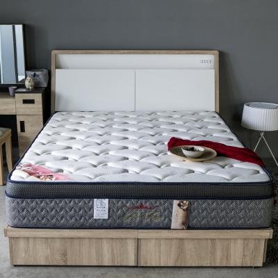 H&D 波斯系列-極致蜂巢三線護邊獨立筒床墊-雙人加大6尺