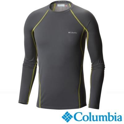 【美國Columbia哥倫比亞】男-保暖快排長袖上衣-灰  UAM63230GY