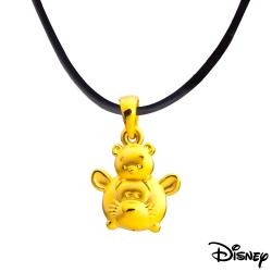 Disney迪士尼金飾 TSUM好朋友系列 跳跳虎維尼黃金墜子 送項鍊