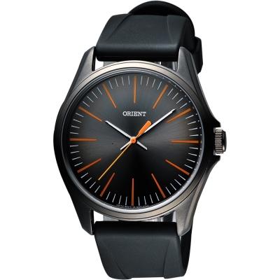 ORIENT 簡約日系休閒石英腕錶-鐵灰x黑/43mm