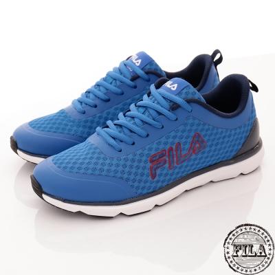 FILA 男款 休閒 走路 慢跑鞋 藍-1-J319R-332