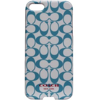 COACH C LOGO i Phone 5 手機保護殼-水藍白(附原廠盒裝)