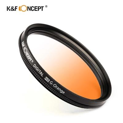 K&F Concept 超薄無暗角清晰漸變圓形濾鏡 橘色