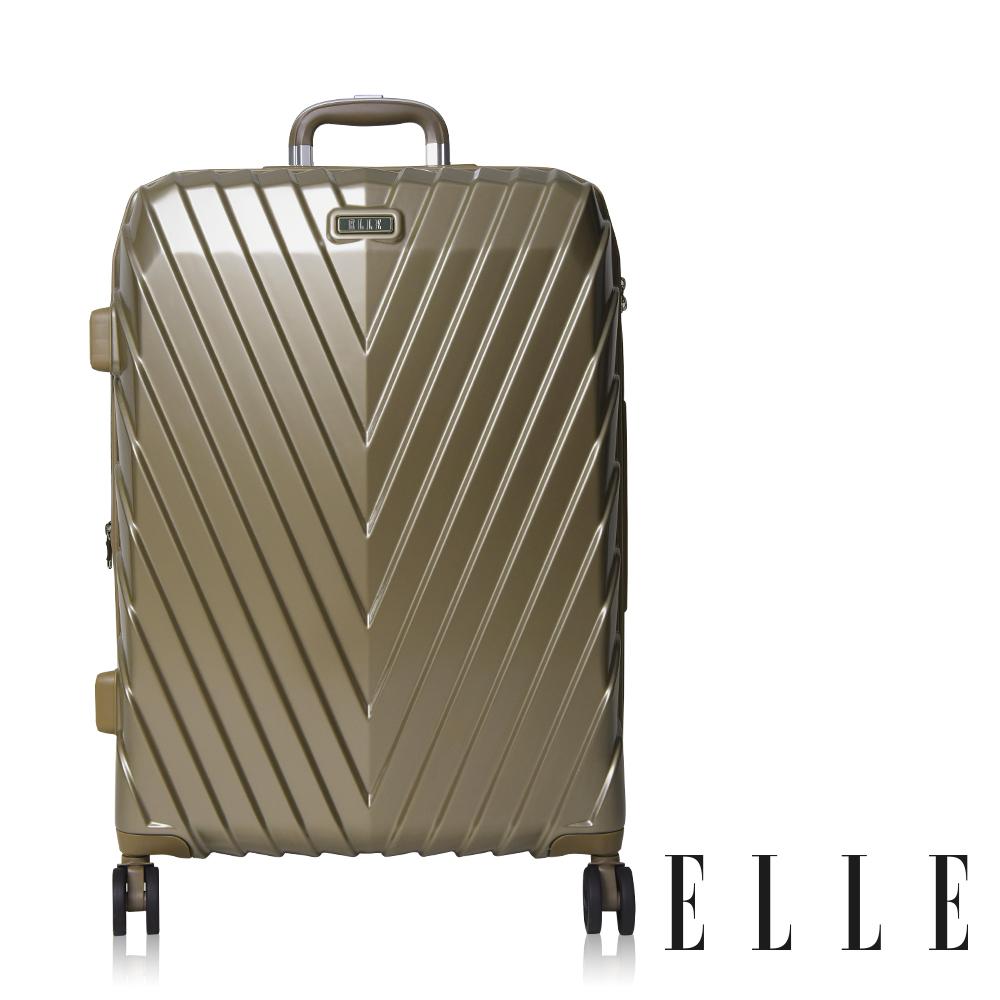 ELLE 法式V型鐵塔系列- 20吋純PC霧面防刮耐撞行李箱-摩卡霧金EL31199