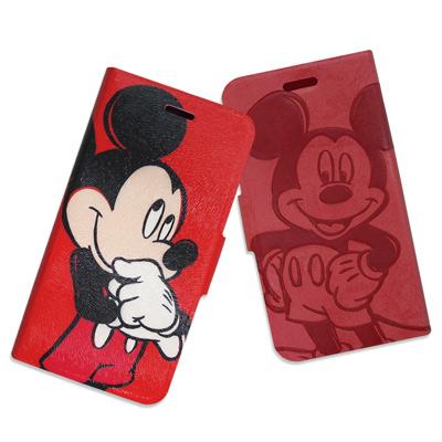 迪士尼授權正版 iPhone 6s / 6 4.7吋 手繪壓印磁力皮套(雙面米奇...