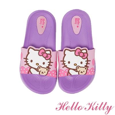 HelloKitty 輕量減壓室內外休閒拖鞋童鞋-紫