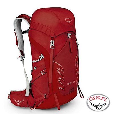 【美國 OSPREY】新款 Talon 33 極輕量健行登山背包M/L_馬丁紅 R