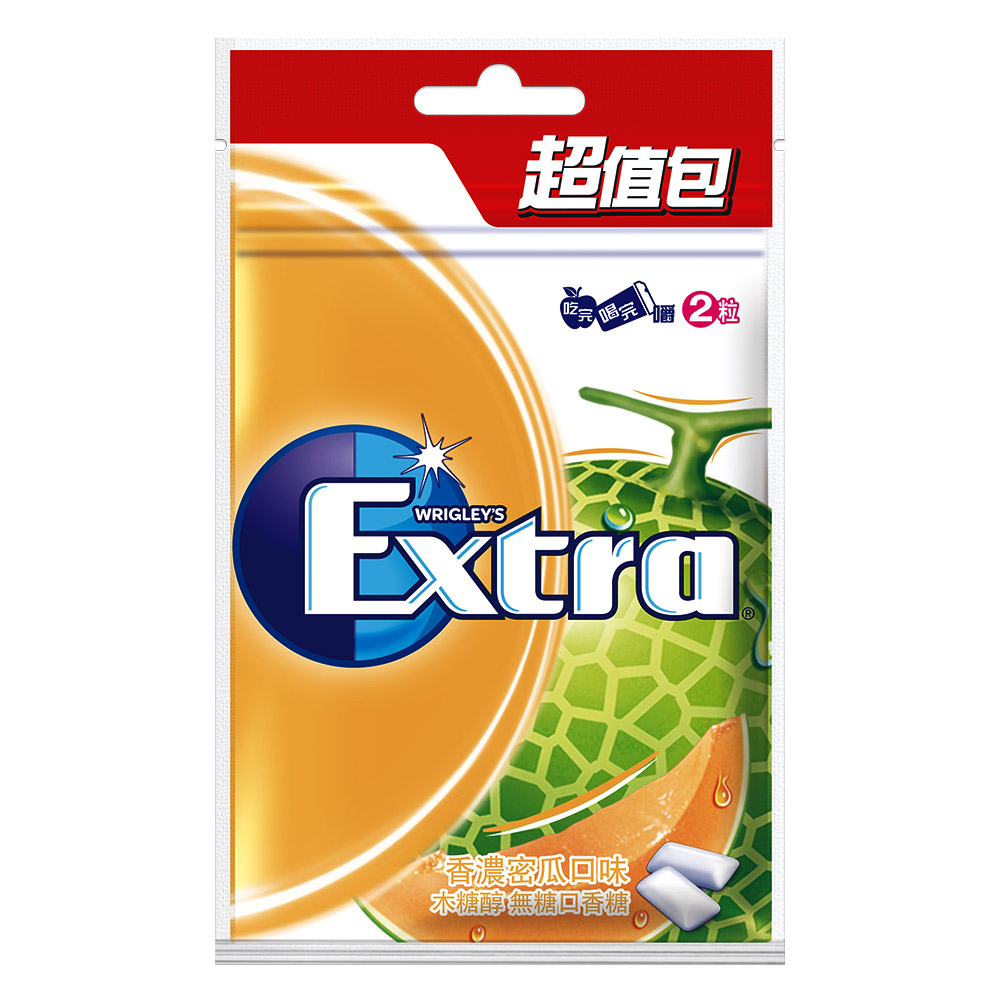 Extra 無糖口香糖-香濃密瓜口味超值包(44粒)