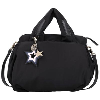 SEE BY CHLOE Joy Rider 星星吊飾尼龍手提兩用空氣包(黑色)