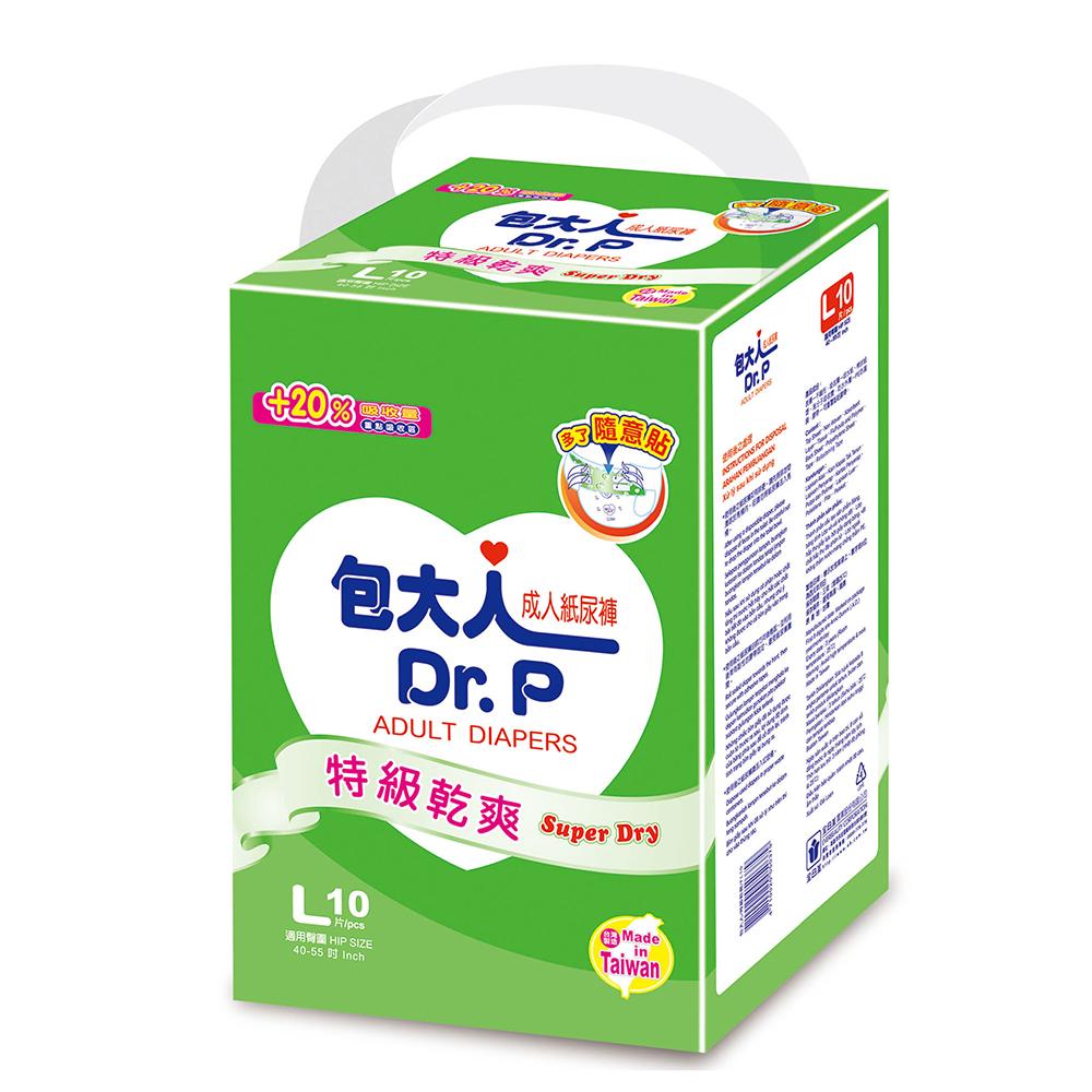 包大人紙尿褲特級乾爽型L(10片 X 12包/箱)