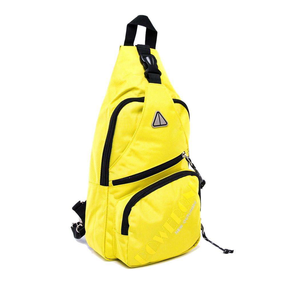 DF BAGSCHOOL - 陽光男孩繽紛系列2用式斜背包後背包-閃光黃