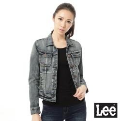 Lee 牛仔外套 二手潑漆較果-女-藍