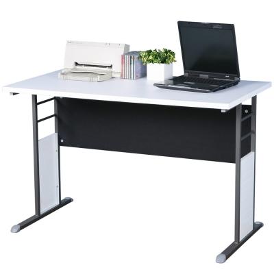 Homelike 巧思辦公桌 炫灰系列-白色加厚桌面120cm