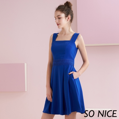 SO NICE都會亮麗寶藍洋裝