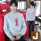 正韓 可樂罐瓶蓋磨毛長版T(共二色)-100%Korea Jeans