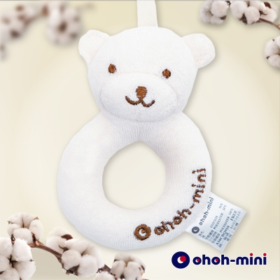 【ohoh-mini 孕婦裝】有機棉小熊安撫玩具