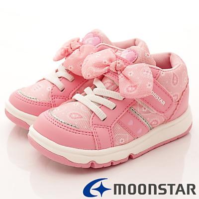 日本月星頂級童鞋 甜心機能款 FO334粉紅(中小童段)HN