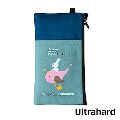 Ultrahard 月見兔手機袋-騎鯨魚(藍)