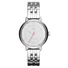 A│X Armani Exchange 迷人性格率性時尚腕錶-銀/39mm