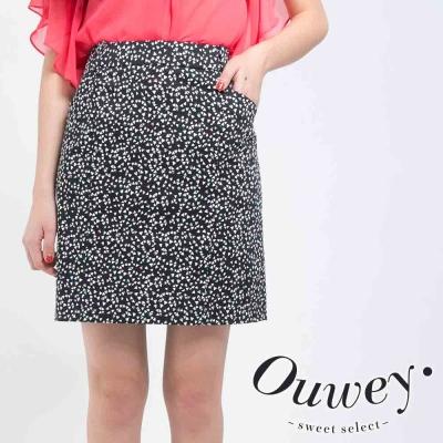 OUWEY歐薇-幾何三角修身兩片裙